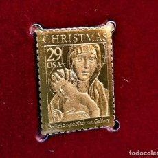 Sellos: SELLO DE ORO 22.KT. CHRISTMAS 1992 MADONNA AND CHILD 1992 - 23 X 30.MM. Lote 243337185