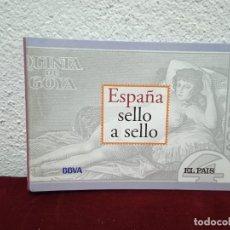 Sellos: ESPAÑA SELLO A SELLO. COLECCIÓN EL PAÍS. BBVA. INCOMPLETA!!. Lote 243594415