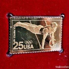 Francobolli: SELLO DE ORO 22.KT. 1988 OLYMPICS SUMMER GAMES 1988 - 25 X 40.MM. Lote 249552405