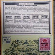 Sellos: COLECCIONABLES CON HISTORIA - EL SELLO NAVIDEÑO DE RODAS.. Lote 252386510