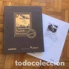 Sellos: LA GUERRA CIVIL ESPAÑOLA EN SELLOS DE CORREOS EL MUNDO-21 HOJAS BLOQUE. Lote 252818435