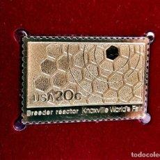 Francobolli: SELLO DE ORO 22.KT. KNOXVILLE WORLDS FAIR BREEDER REACTOR 1982 - 25 X 40.MM. Lote 253035790