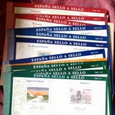Timbres: LOTE 12 HOJAS ESPAÑA SELLO A SELLO. Lote 263598930
