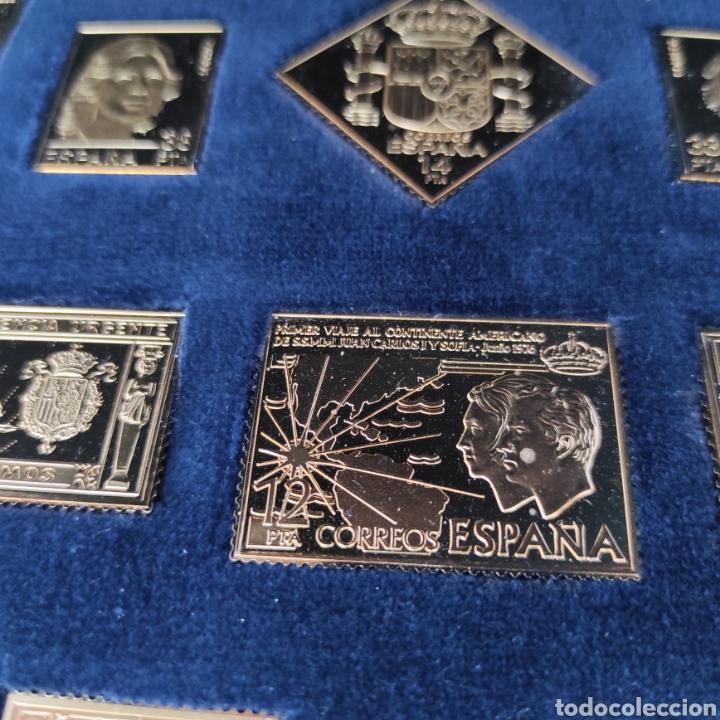 Sellos: Colección La Casa de Borbón replicas sellos en plata maciza bañada en oro - Foto 2 - 264271324