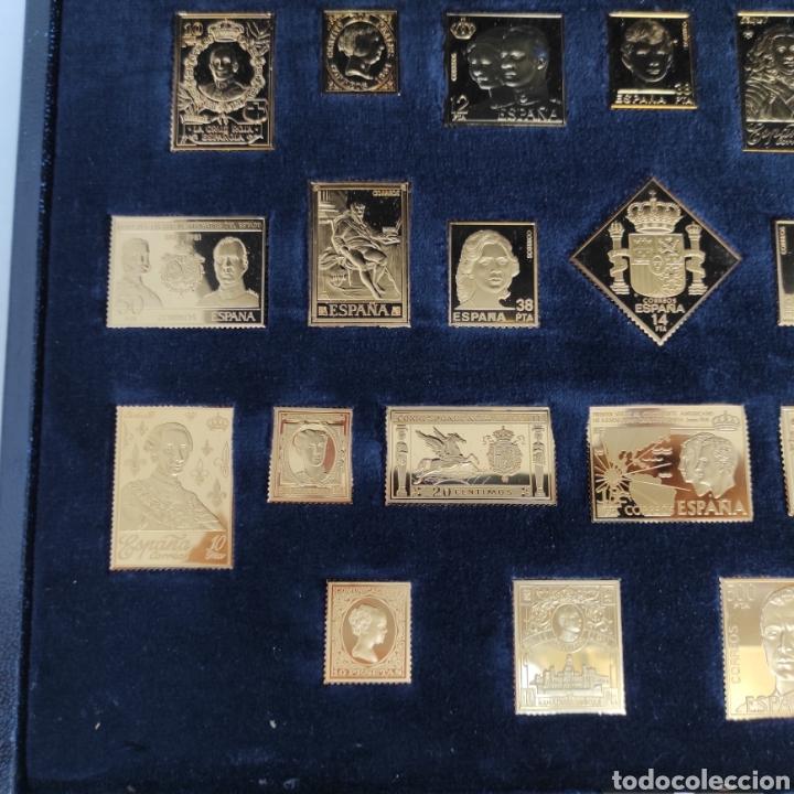 Sellos: Colección La Casa de Borbón replicas sellos en plata maciza bañada en oro - Foto 3 - 264271324