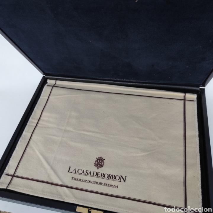 Sellos: Colección La Casa de Borbón replicas sellos en plata maciza bañada en oro - Foto 5 - 264271324