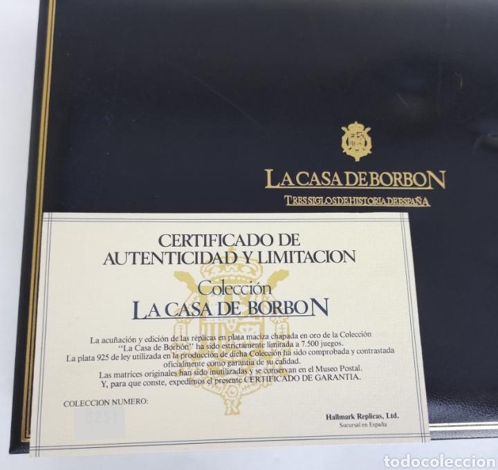 Sellos: Colección La Casa de Borbón replicas sellos en plata maciza bañada en oro - Foto 10 - 264271324