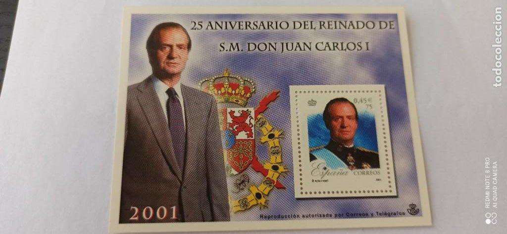 SELLO SIN USO 25 ANIVERSARIO DE REINADO DE A.M.REY JUAN CARLOS 2001 (Filatelia - Sellos - Reproducciones)