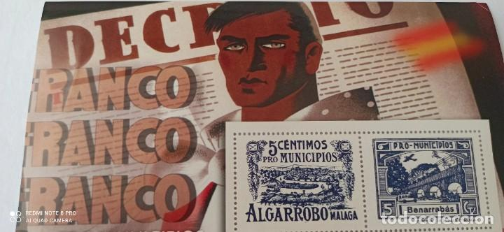 Sellos: SELLOS 5 CÉNTIMOS PRO MUNICIPIOS ALGARROBOS MALAGA - Foto 3 - 265502459