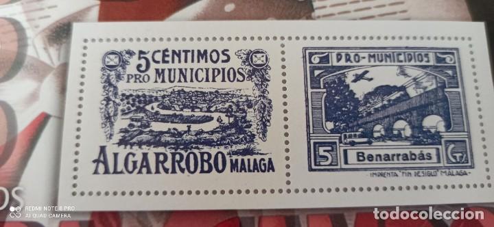 Sellos: SELLOS 5 CÉNTIMOS PRO MUNICIPIOS ALGARROBOS MALAGA - Foto 4 - 265502459