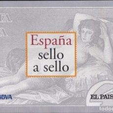 Francobolli: ESPAÑA SELLO A SELLO. COLECCIÓN EDITADA POR EL PAÍS Y BBVA. ESPAÑA 2003. COMPLETA CON 330 SELLOS.. Lote 265712389