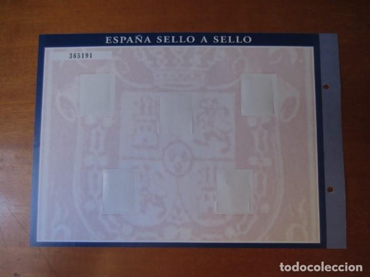 Sellos: Lamina Hoja H-1 (Isabel II) de la Colección España Sello a Sello de El Pais y BBVA - Foto 2 - 267061329