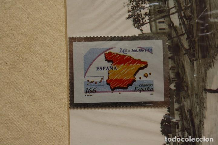 SELLO TROQUELADO METAL HUECOGRABADO: PAISES EURO ESPAÑA – NUEVO – FICHA TECNICA HISTORIA - (Filatelia - Sellos - Reproducciones)