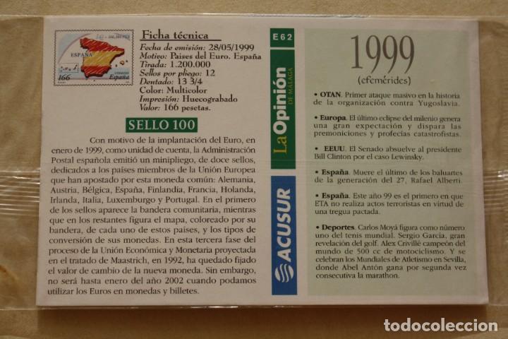 Sellos: SELLO TROQUELADO METAL HUECOGRABADO: PAISES EURO ESPAÑA – NUEVO – FICHA TECNICA HISTORIA - - Foto 3 - 276316378