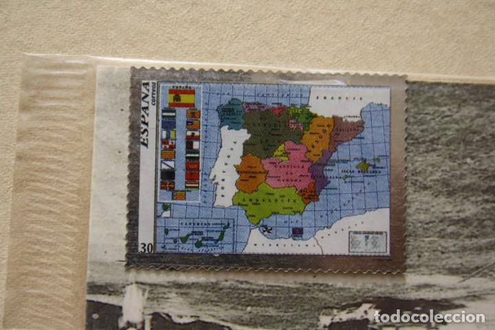 SELLO TROQUELADO METAL HUECOGRABADO: MAPA NACIONAL – NUEVO – FICHA TECNICA HISTORIA - POSTAL (Filatelia - Sellos - Reproducciones)