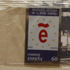 Sellos: SELLO TROQUELADO METAL HUECOGRABADO: ESPAÑA PRESIDENCIA EUROPEA – NUEVO – FICHA TECNICA HISTORIA. Lote 276353213