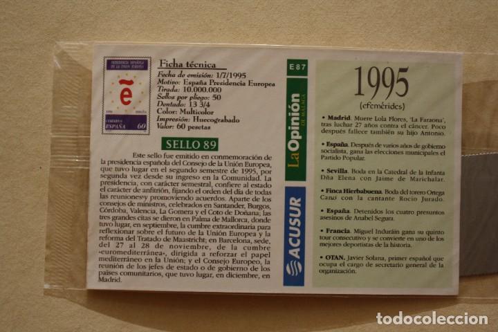 Sellos: SELLO TROQUELADO METAL HUECOGRABADO: ESPAÑA PRESIDENCIA EUROPEA – NUEVO – FICHA TECNICA HISTORIA - Foto 3 - 276353213