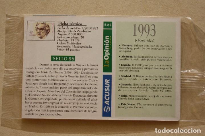 Sellos: SELLO TROQUELADO METAL HUECOGRABADO: MARIA ZAMBRANO – NUEVO – FICHA TECNICA HISTORIA - POSTAL - Foto 3 - 276532408