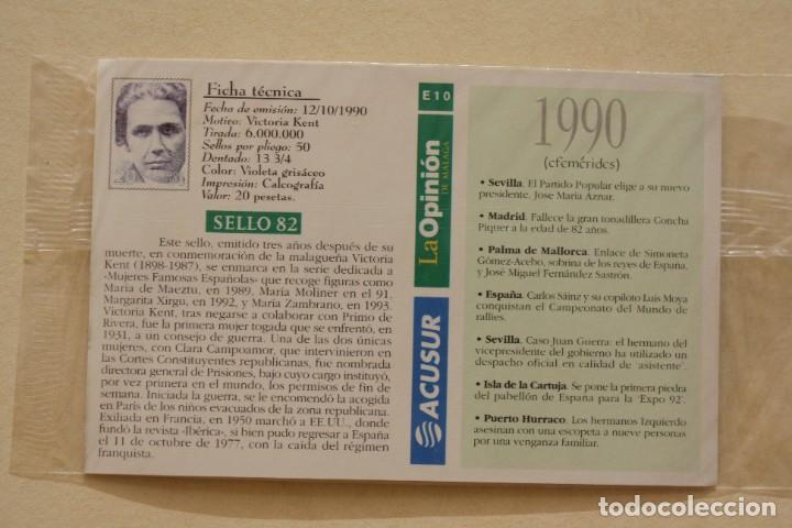 Sellos: SELLO TROQUELADO METAL HUECOGRABADO: VICTORIA KENT – NUEVO – FICHA TECNICA HISTORIA - POSTAL - Foto 3 - 276533933