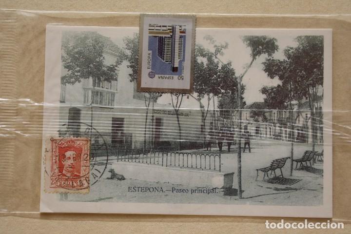 Sellos: SELLO TROQUELADO METAL HUECOGRABADO: EDIFICIO MALAGA – NUEVO – FICHA TECNICA HISTORIA - POSTAL - Foto 2 - 276740198