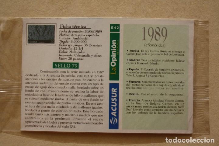 Sellos: SELLO TROQUELADO METAL HUECOGRABADO: ENCAJES ANDALUCIA – NUEVO – FICHA TECNICA HISTORIA POSTAL - Foto 3 - 276740393