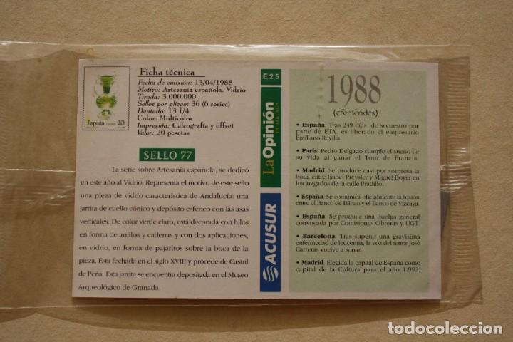 Sellos: SELLO TROQUELADO METAL HUECOGRABADO: ARTESANIA ESPAÑA VIDRIO – NUEVO – FICHA TECNICA - POSTAL - Foto 3 - 276740898