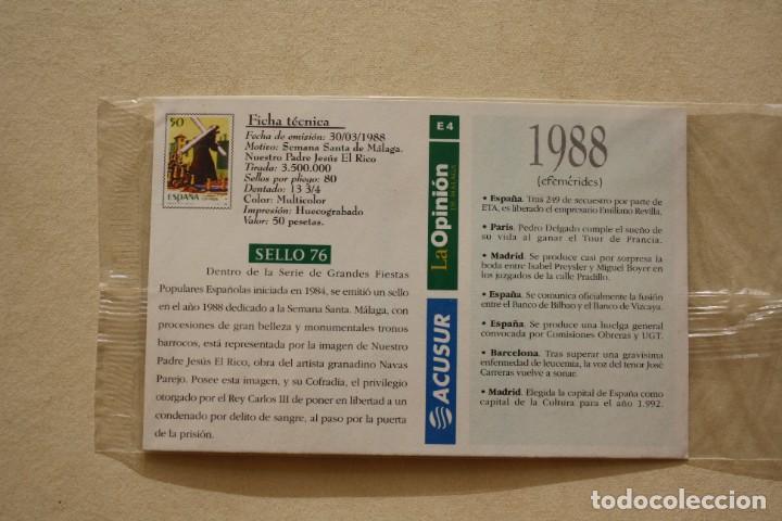 Sellos: SELLO TROQUELADO METAL HUECOGRABADO: SEMANA SANTA MALAGA JESUS EL RICO - POSTAL - Foto 3 - 276741188
