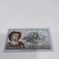 Sellos: SELLO METÁLICO ESPAÑA JUAN SEBASTIÁN ELCANO.. Lote 278342673
