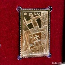 Francobolli: SELLO DE ORO 22.KT. MARATHON 100TH ANNIVERSARY 1996 - 25 X 40.MM. Lote 284360583