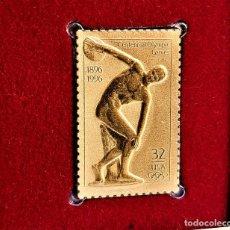 Francobolli: SELLO DE ORO 22.KT. CENTENNIAL OLYMPIC GAMES 1996 - 25 X 40.MM. Lote 285685563