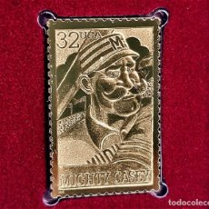 Timbres: SELLO DE ORO 22.KT. FOLK HEROES MIGHTY CASEY 1996 - 25 X 40.MM. Lote 287111713