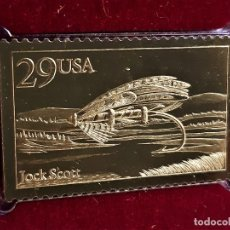 Francobolli: SELLO DE ORO 22.KT. FISHING FLIES 1991 - 25 X 40.MM. Lote 288507233