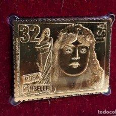 Francobolli: SELLO DE ORO 22.KT. OPERA SINGERS 1997 - 31 X 40.MM. Lote 288507553