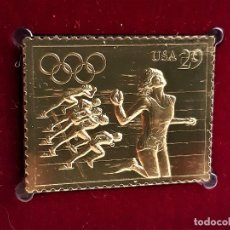 Francobolli: SELLO DE ORO 22.KT. OLYMPIC TRACK AND FIELD 1991 - 30 X 40.MM. Lote 288666738