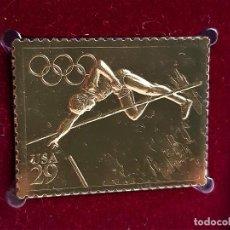 Francobolli: SELLO DE ORO 22.KT. OLYMPIC TRACK AND FIELD 1991 - 30 X 40.MM. Lote 288666868