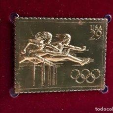 Francobolli: SELLO DE ORO 22.KT. OLYMPIC TRACK AND FIELD 1991 - 30 X 40.MM. Lote 288666998