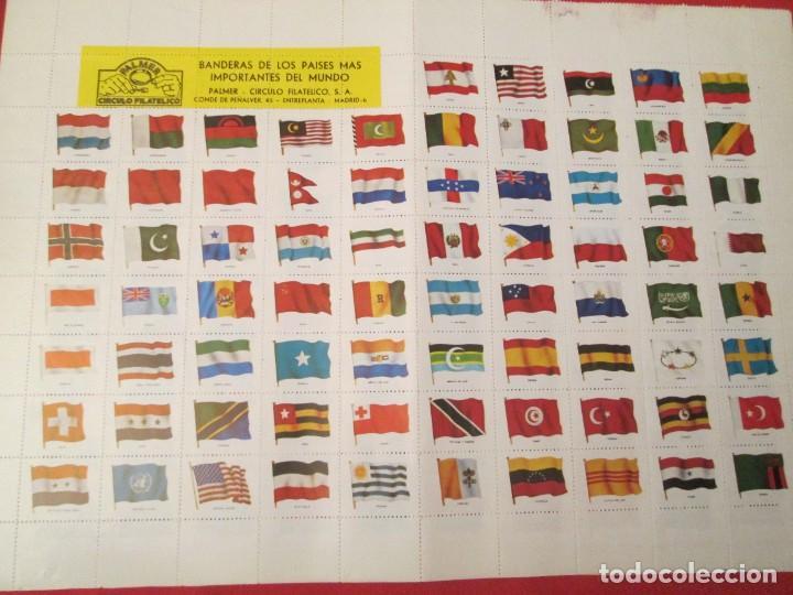 BANDERAS DE LOS PAISES MAS IMPORTANTES DEL MUNDO CIRCULO FILATELICO PALMER (Filatelia - Sellos - Reproducciones)