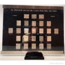 Sellos: COLECCION SELLOS DE PLATA PURA 999 EL PRIMER SELLO DE CADA PAIS DEL MUNDO. Lote 295590738