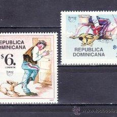 Sellos: REPUBLICA DOMINICANA 1285/6 SIN CHARNELA, TEMA UPAEP, EL CARTERO, . Lote 25456633