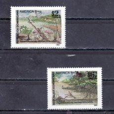 Sellos: REPUBLICA DOMINICANA 1196/7 SIN CHARNELA, TEMA UPAEP, PRESERVACION DEL SISTEMA ECOLOGICO . Lote 25456694