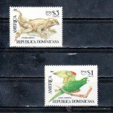 Sellos: REPUBLICA DOMINICANA 1117/8 SIN CHARNELA, TEMA UPAEP, FAUNA EN VIAS DE EXTINCION . Lote 25456842