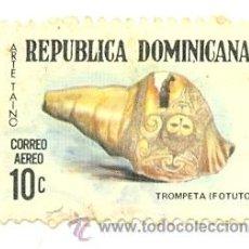 Sellos: 2REPDOM-AE233. SELLO USADO REP. DOMINICANA. YVERT AE233. TROMPETA. Lote 38891793