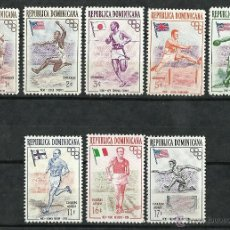 Sellos: REPUBLICA DOMINICANA - 1957 - SCOTT 474/478+C97/C99** MNH. Lote 202332157