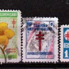 Sellos: REPUBLICA DOMINICANA. LUCHA CONTRA TUBERCULOSIS. *.MH. Lote 49984726