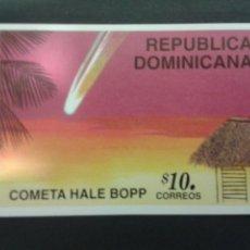 Sellos: SELLOS DE REPÚBLICA DOMINICANA. YVERT HB-45 SERIE COMPLETA NUEVA SIN CHARNELA. COMETA HALE BOPP. Lote 52740628