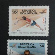 Sellos: SELLOS DE REPÙBLICA DOMINICANA. DEPORTES. YVERT 1122/3. SERIE COMPLETA NUEVA ***. TENIS. NATACIÓN.. Lote 53478983
