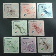 Sellos: SELLOS DE REPÙBLICA DOMINICANA.DEPORTES. YVERT 457/61 + A 108/10. SERIE COMPLETA NUEVA SIN CHARNELA.. Lote 53479031