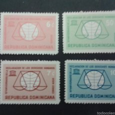Sellos: SELLOS DE REPÙBLICA DOMINICANA. YVERT 602/3 + A 166/7. SERIE COMPLETA NUEVA SIN CHARNELA.. Lote 53479037