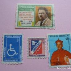 Sellos: LOTE SELLOS REPUBLICA DOMINICANA, AÑOS 70.CIRCULADOS. Lote 61985824