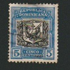 Sellos: REPÚBLICA DOMINICANA.1901.? -5 CENTAVOS.SELLO POR CLASIFICAR.USADO.. Lote 77241105
